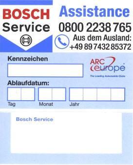 Bosch-Service-Assistance, Mobilitätsgarantie